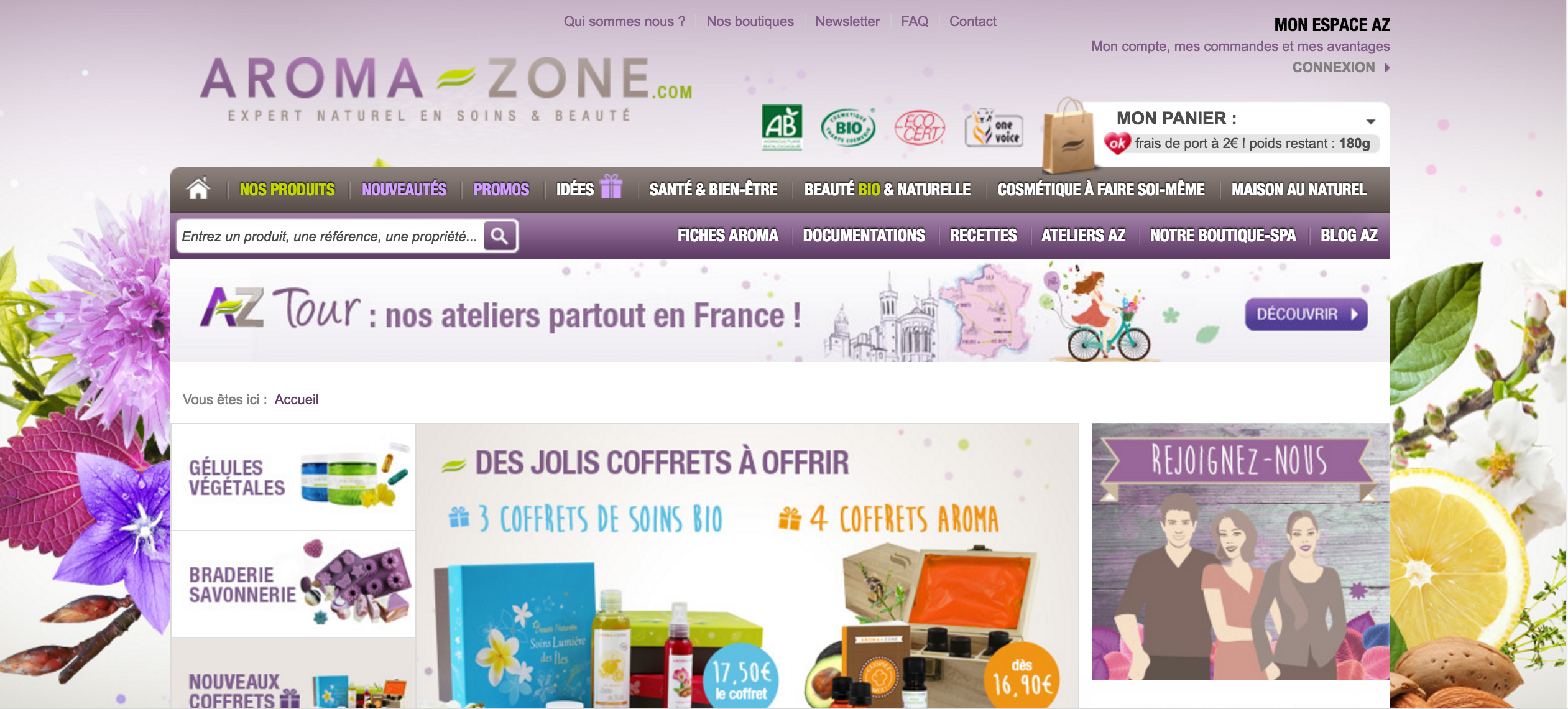 SITE web mode beauté roxane mls aromazone