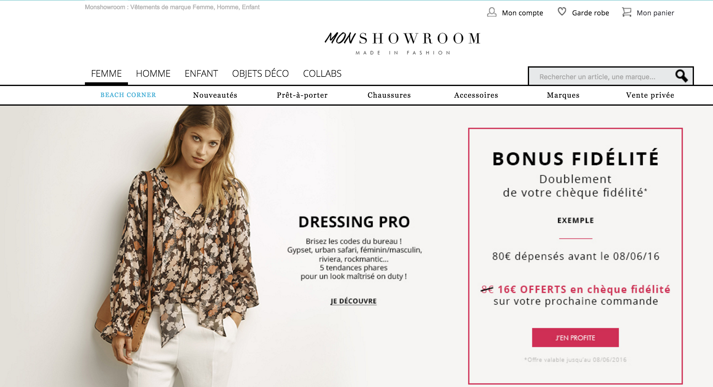 SITE web mode beauté roxane mls monshowroom