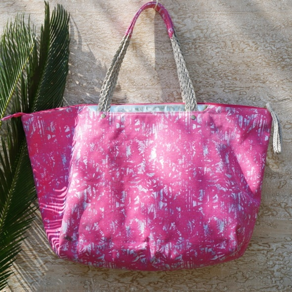 Sac de plage PlayaPlaya l'imprim+® Palma Pink