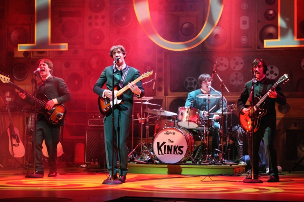SUNNY AFTERNOON TOUR - Garmon Rhys (Pete Quaife), Ryan O'Donnell (Ray Davies), Andrew Gallo (Mick Avory) and Mark Newnham (Dave Davies). Photo Kevin Cummins - copie.jpg